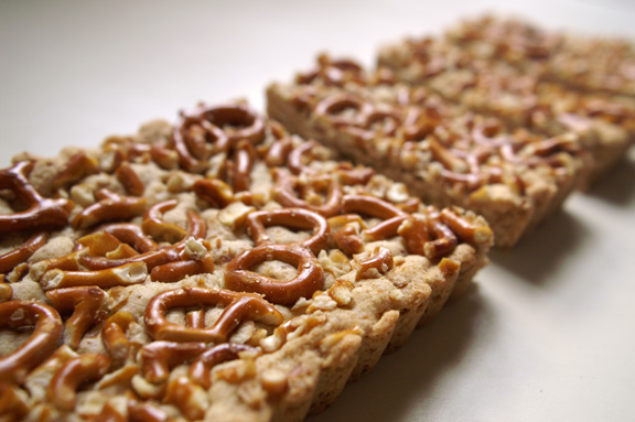 pretzel shortbread snack bars.