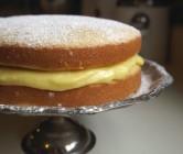 sponge cake + lemon curd filling.
