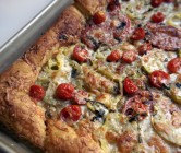tomato + mozzarella tart.