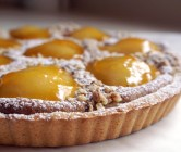 pear + walnut tart.