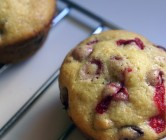 cranberry, orange + walnut muffins.