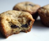 mini deep-dish chocolate chip cookies.