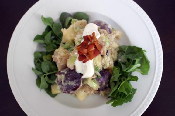smoked potato salad + horseradish cream.