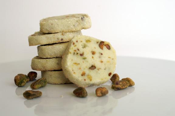 pistachio sables.