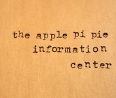 the apple pi pie info center.