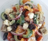 greek panzanella salad.