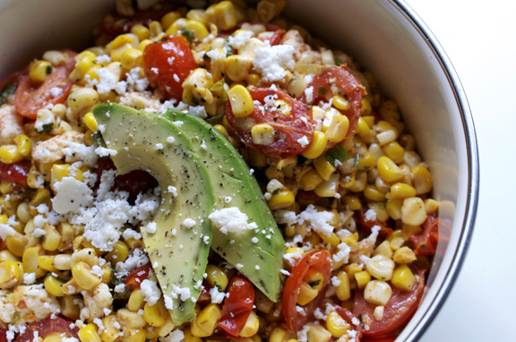 grilled corn salad.