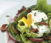 bacon + poached egg salad.