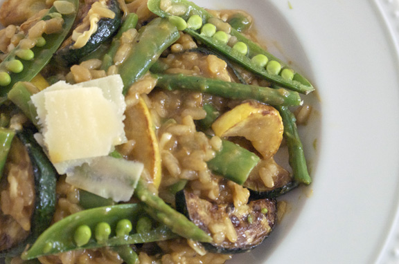 summer vegetable risotto.