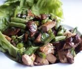 thai-style green bean, tofu + shiitake lettuce wraps.
