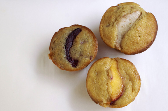 pick your fruit + ginger muffins.