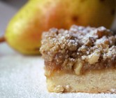 pear + cider crumble bars.