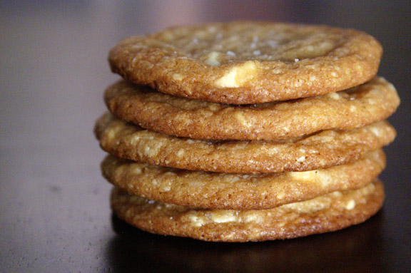 white chocolate macadamia nut cookies.