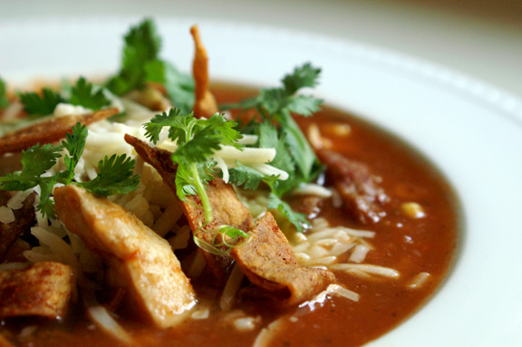 loaded chicken tortilla soup.