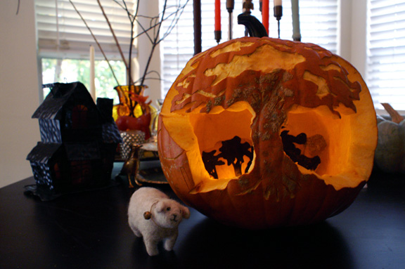 lottie's pumpkin: my entry for movita beaucoup's pumpkin carve-off 2012.