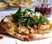 caramelized onion + apple pizza salad.