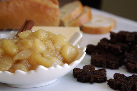 spiced pear compote.