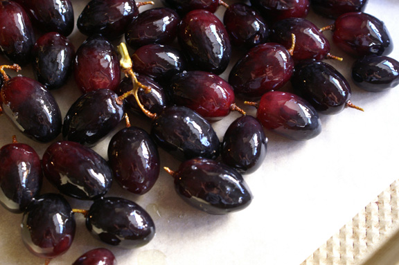 roasted grapes.