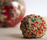 holiday cake truffles (the momofuku milk bar birthday cake, in a ball.)