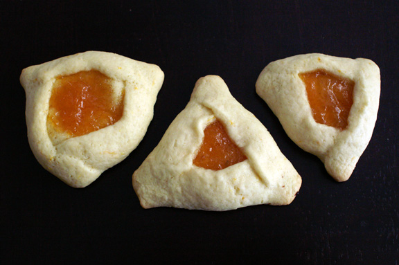 dairy-free hamantaschen trials.