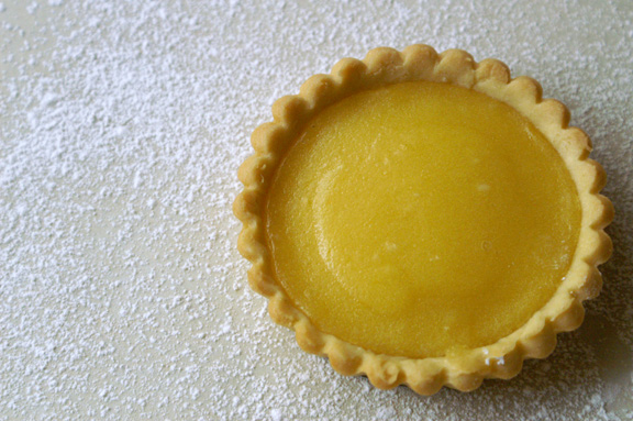 mini lemon tarts.