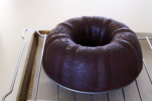 classic chocolate bundt + chocolate honey glaze.