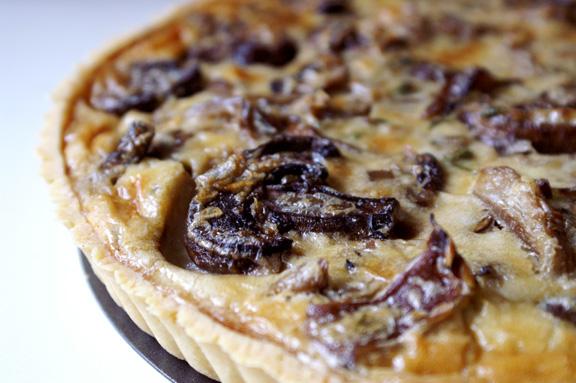 mushroom + goat cheese tart.