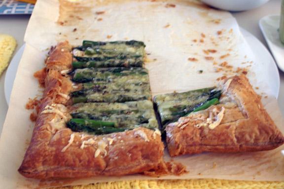 asparagus tart.