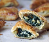 spinach + ricotta turnovers.