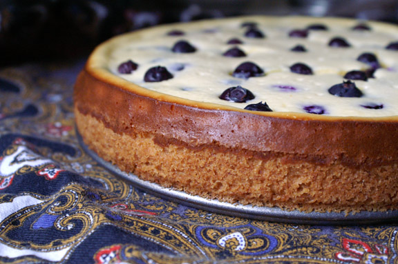 blueberry cheesecake + macadamia nut crust.