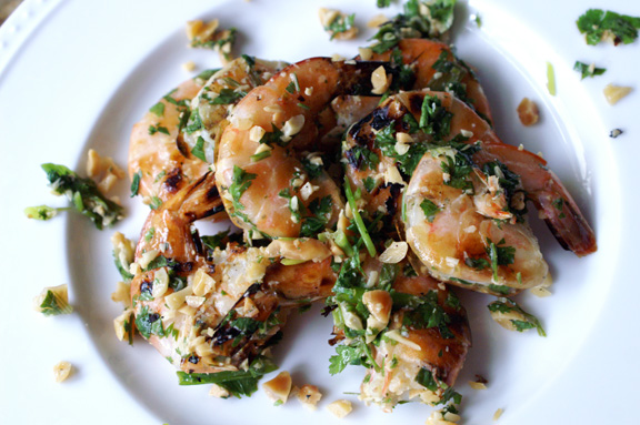 cilantro lime peanut shrimp.