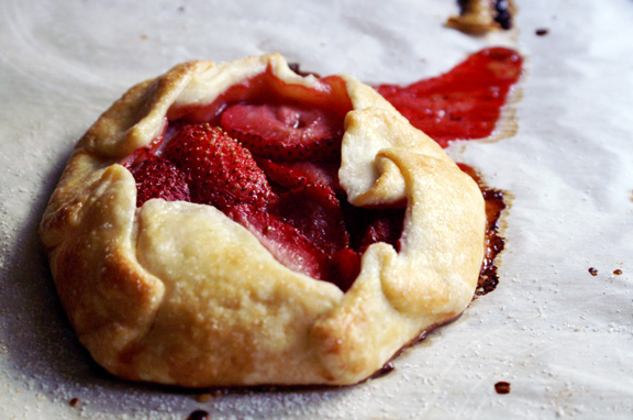 individual strawberry galettes.