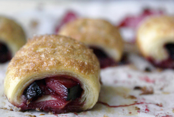 black plum mini-strudels.