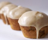 butternut + apple muffins with cinnamon vanilla glaze.