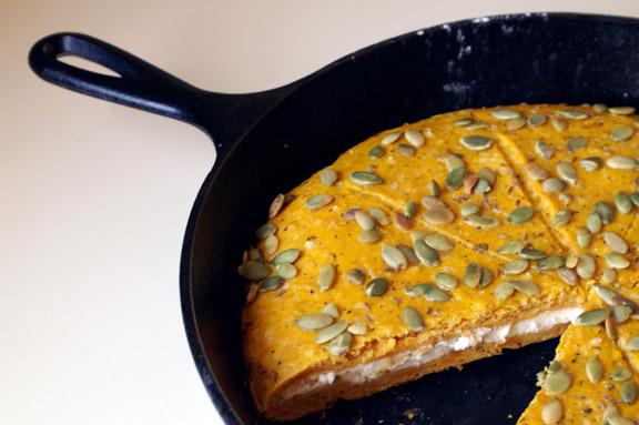 pumpkin + caraway pan scones.