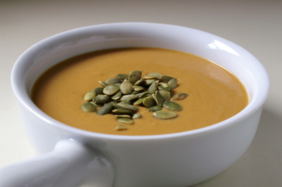 butternut squash + sweet potato soup.
