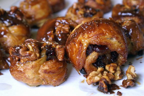 cranberry walnut sticky buns.