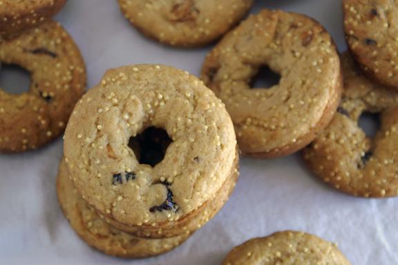 fig + millet donuts.