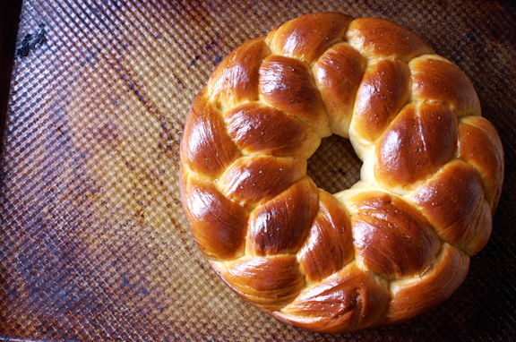 tsoureki [greek easter bread.]