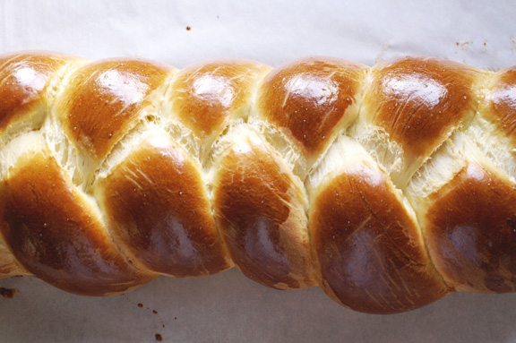 tsoureki (greek easter bread.)