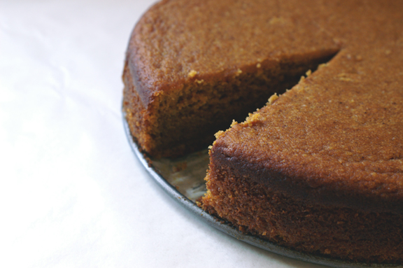pumpkin almond cake.