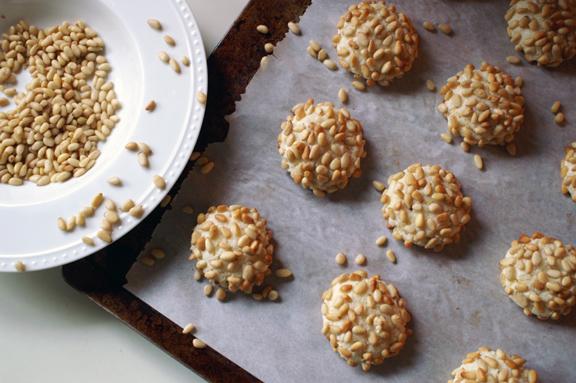pignoli [pine nut] cookies.