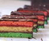 italian tricolor / rainbow cookies.