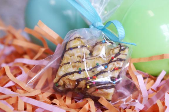 chocolate-dipped cornflake marshmallow treats.