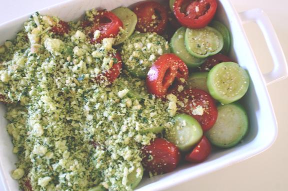 savory tomatillo gratin.