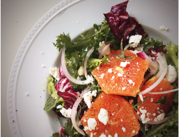 collection torched orange salad