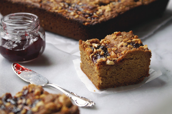 salted peanut butter + jelly blondies.