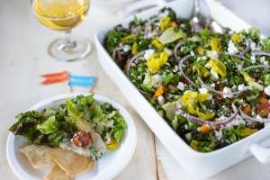 greek salad layers