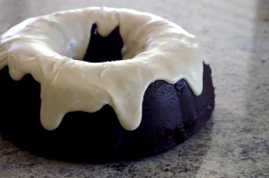 Baked, Occasionally: black cocoa bundt with coffee glaze.