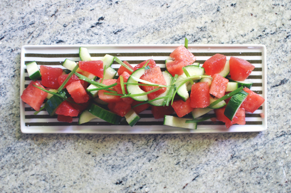 persian watermelon + cucumber salad. | a periodic table